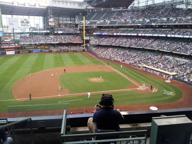 Seating view for Miller Park Section 339 Row 5 Seat 10