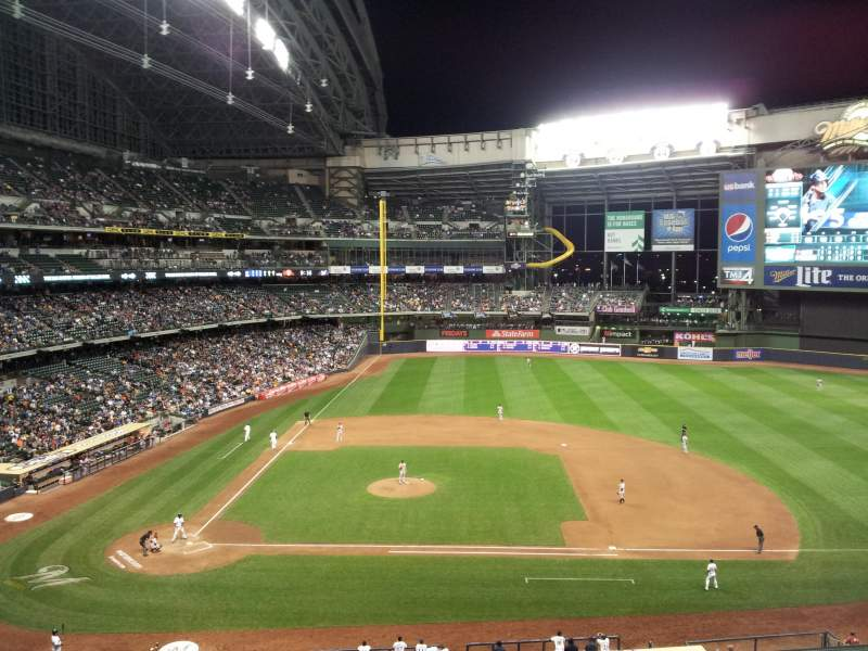 Seating view for Miller Park Section 321 Row 3 Seat 5