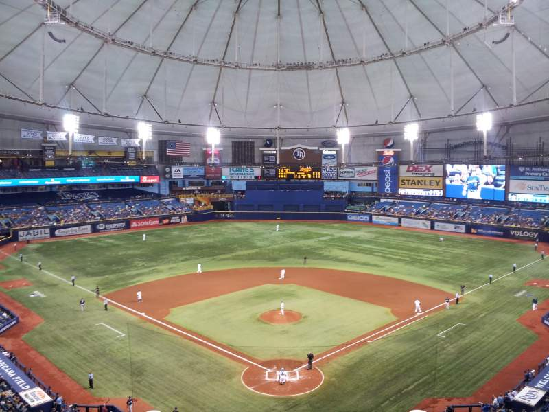 Tropicana Field, section: 300, row: F, seat: 5