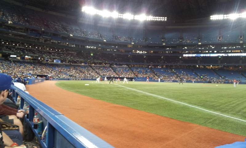 Seating view for Rogers Centre Section 113CR Row 1 Seat 2