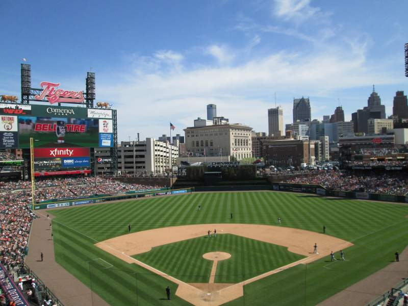 Seating view for Comerica Park Section 327 Row 1 Seat 8