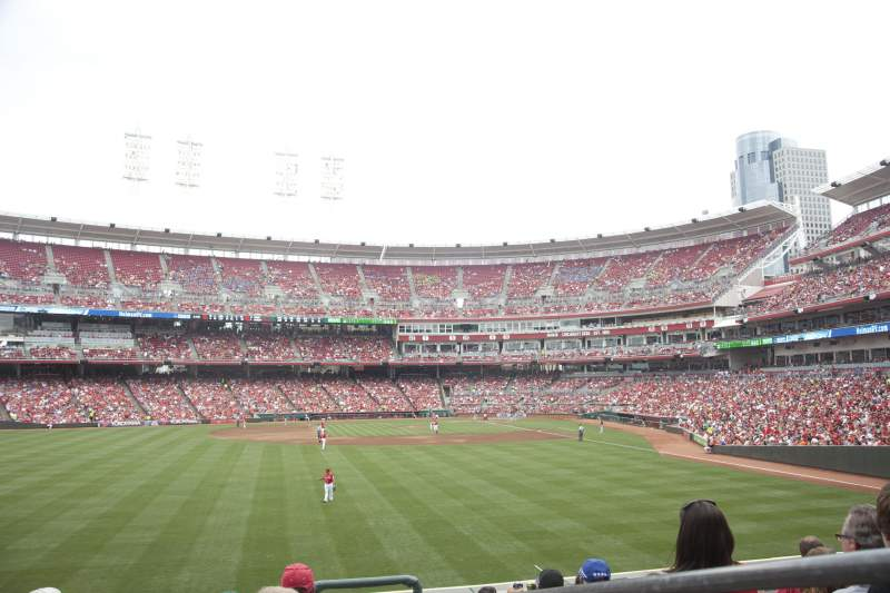 Seating view for Great American Ball Park Section 103 Row J Seat 2