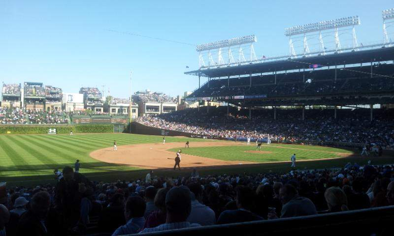 Seating view for Wrigley Field Section 208 Row 1 Seat 14