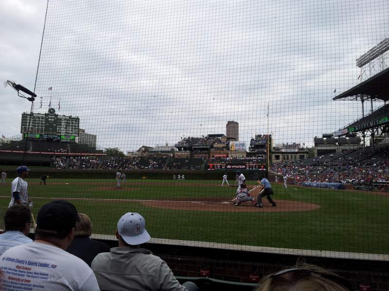 Seating view for Wrigley Field Section 17 Row 2 Seat 104