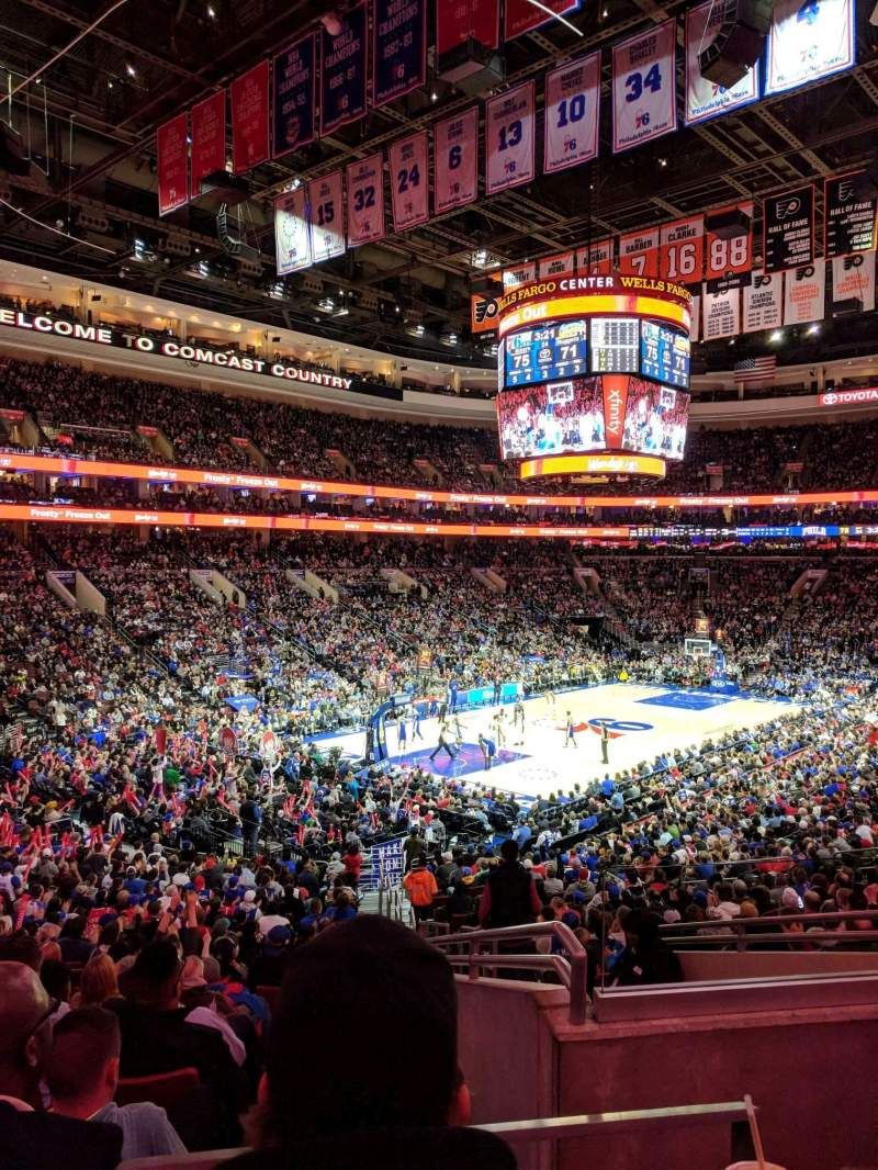 Seating view for Wells Fargo Center Section 109 Row 26 Seat 25
