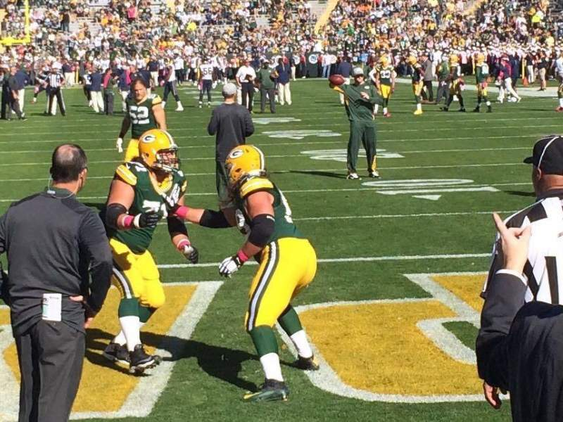 Seating view for Lambeau Field Section 137 Row 1 Seat 13