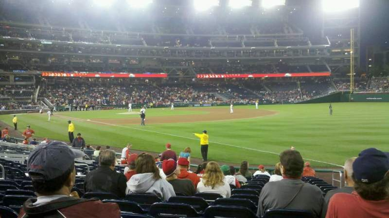 Seating view for Nationals Park Section 135 Row U Seat 3