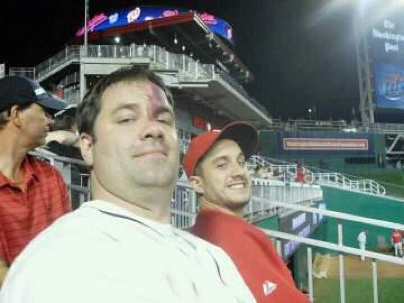 Seating view for Nationals Park Section 103