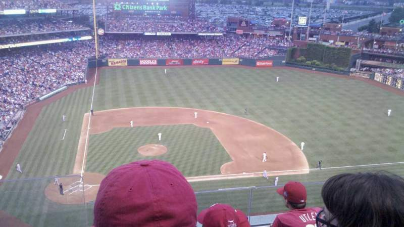 Seating view for Citizens Bank Park Section 416 Row 4 Seat 23