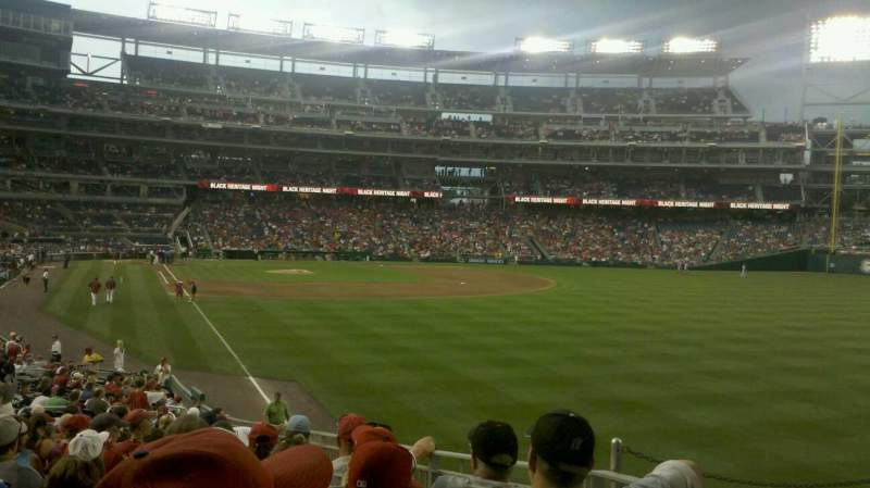 Seating view for Nationals Park Section 137 Row HH Seat 10