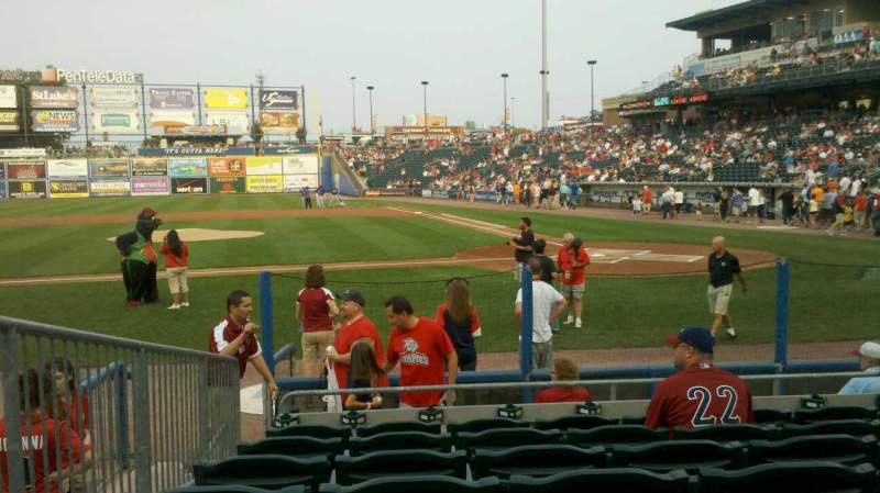 Seating view for Coca-Cola Park Section 116 Row J Seat 10