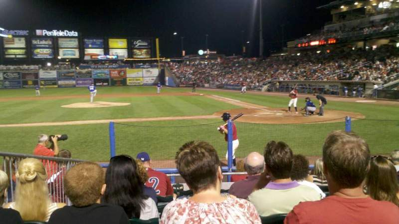 Seating view for Coca-Cola Park Section 116 Row J Seat 9