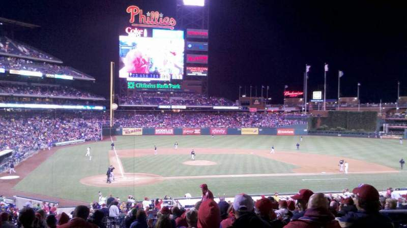 Seating view for Citizens Bank Park Section 120 Row 34 Seat 5