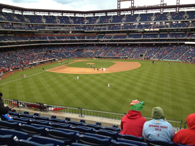 Seating view for Citizens Bank Park Section 201 Row 6 Seat 13