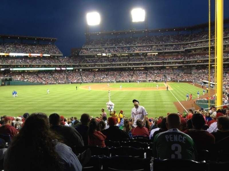 Seating view for Citizens Bank Park Section 141 Row 21 Seat 25