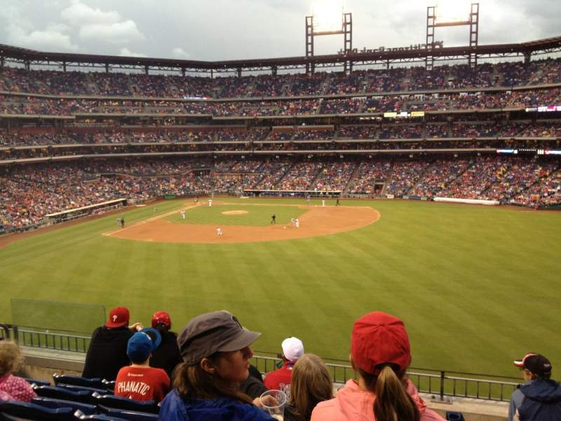 Seating view for Citizens Bank Park Section 201 Row 6 Seat 18