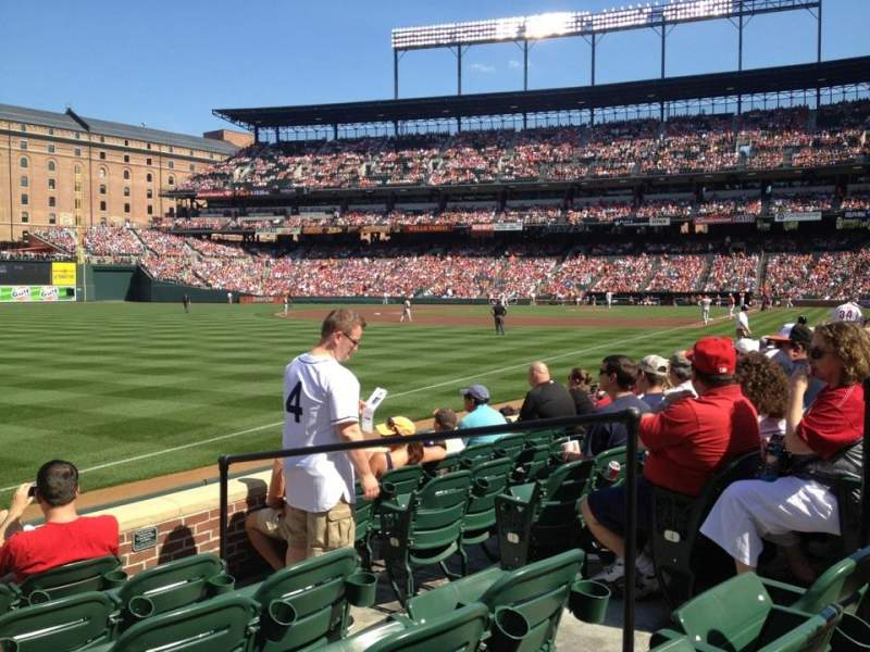 Seating view for Oriole Park at Camden Yards Section 68 Row 6 Seat 5