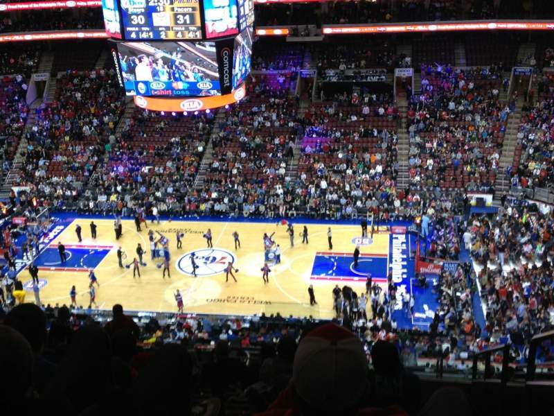 Seating view for Wells Fargo Center Section 203 Row 15 Seat 20