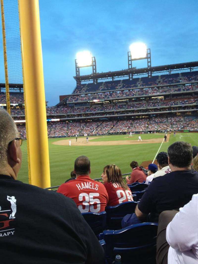 Seating view for Citizens Bank Park Section 140 Row 13 Seat 13