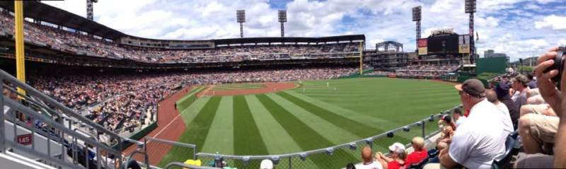 Seating view for PNC Park Section 144 Row D Seat 16