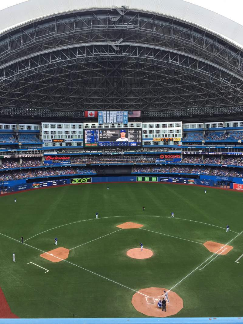Seating view for Rogers Centre Section 524bl Row 2 Seat 110