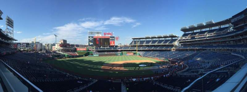 Seating view for Nationals Park Section 208 Row A Seat 17