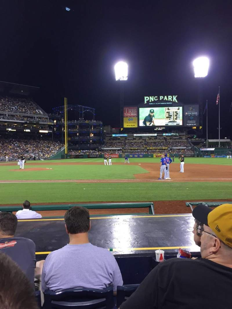 Seating view for PNC Park Section 10 Row J Seat 11