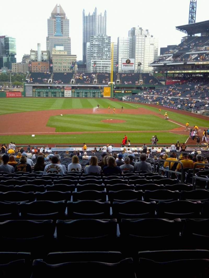 Seating view for PNC Park Section 123 Row FF Seat 4