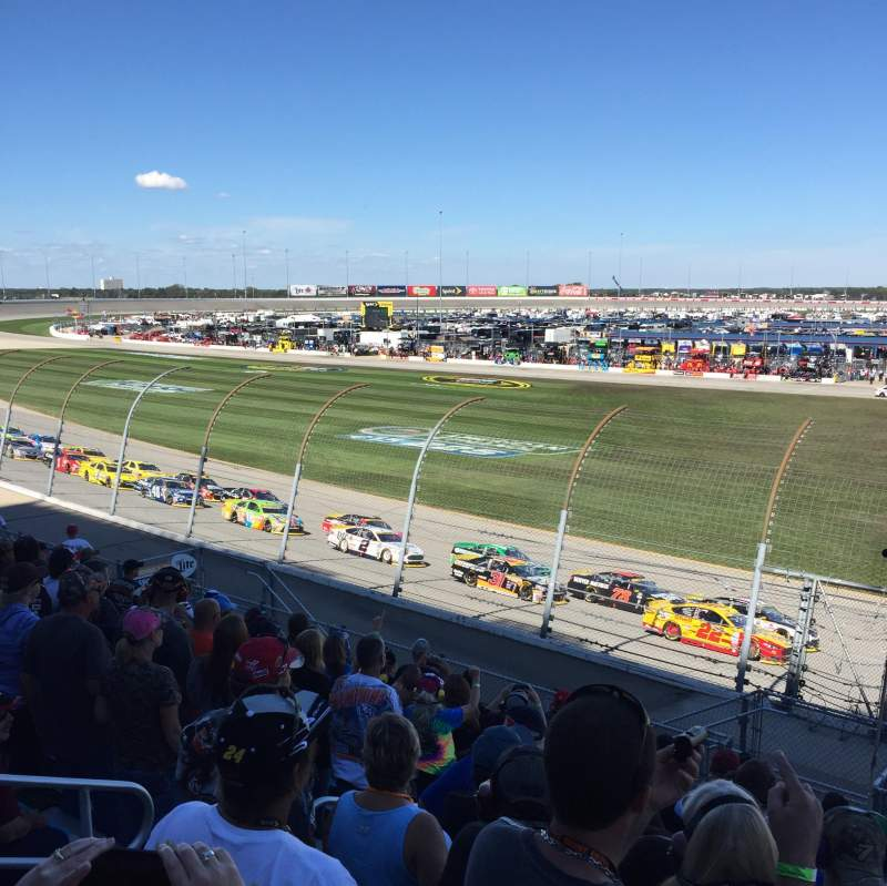 Seating view for Chicagoland Speedway Section 101 Row 11 Seat 11