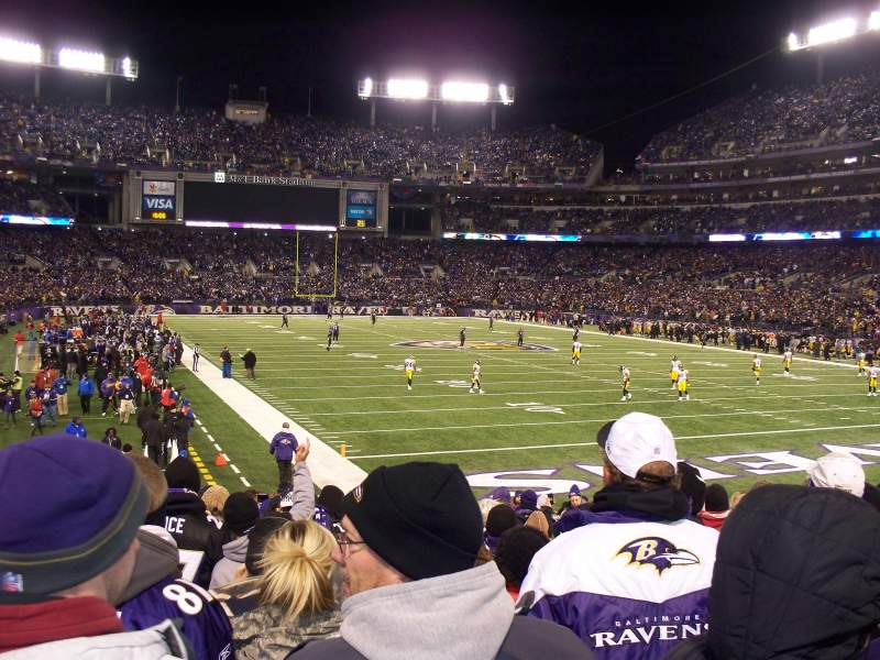 Seating view for M&T Bank Stadium Section 117 Row 17 Seat 11