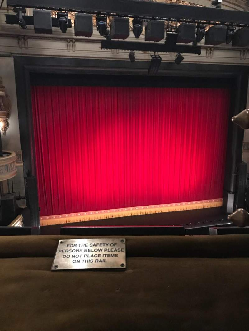 Seating view for Theatre Royal Drury Lane Section Grand Circle Row A Seat 33