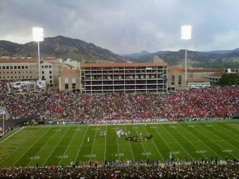 Seating view for Folsom Field Section 216