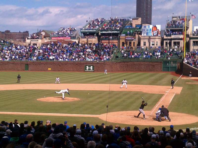 Seating view for Wrigley Field Section 117 Row 14 Seat 1