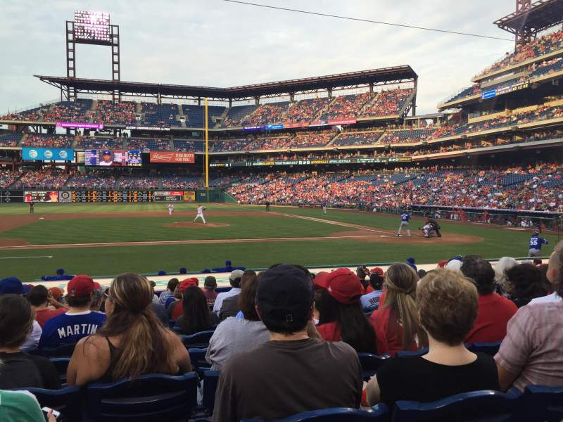 Seating view for Citizens Bank Park Section 130 Row 12 Seat 13
