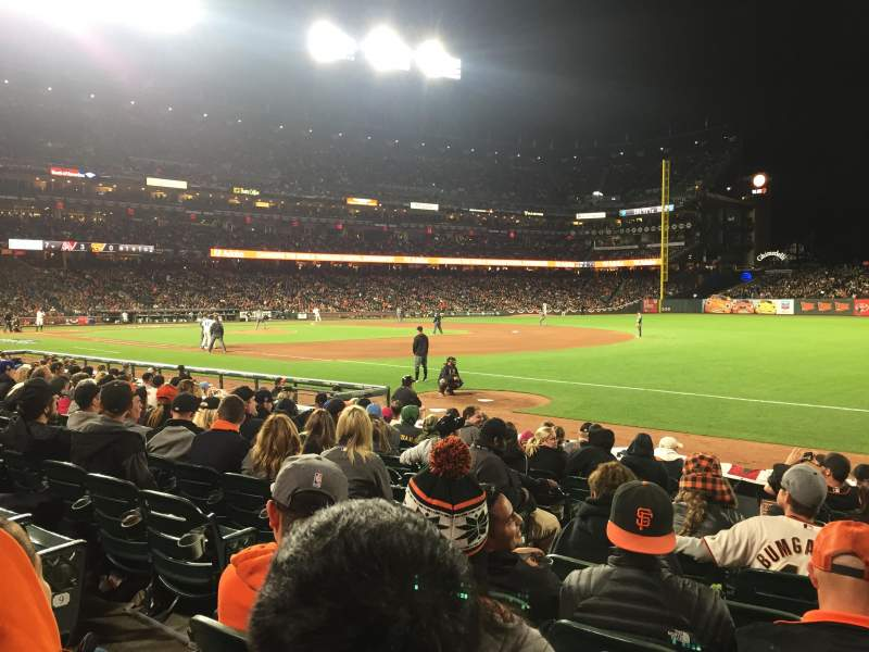 Seating view for Oracle Park Section 103 Row 11 Seat 10