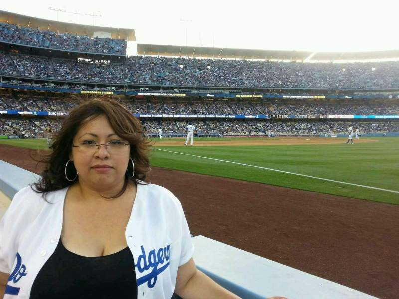 Seating view for Dodger Stadium Section 38BL Row 1 Seat 1