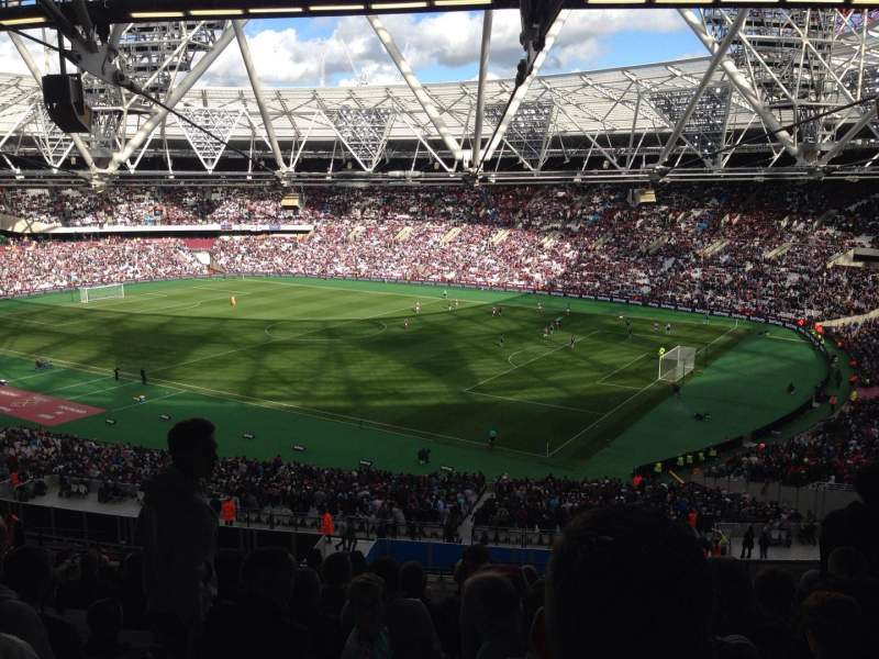 Seating view for London Stadium Section 214 Row 63 Seat 255