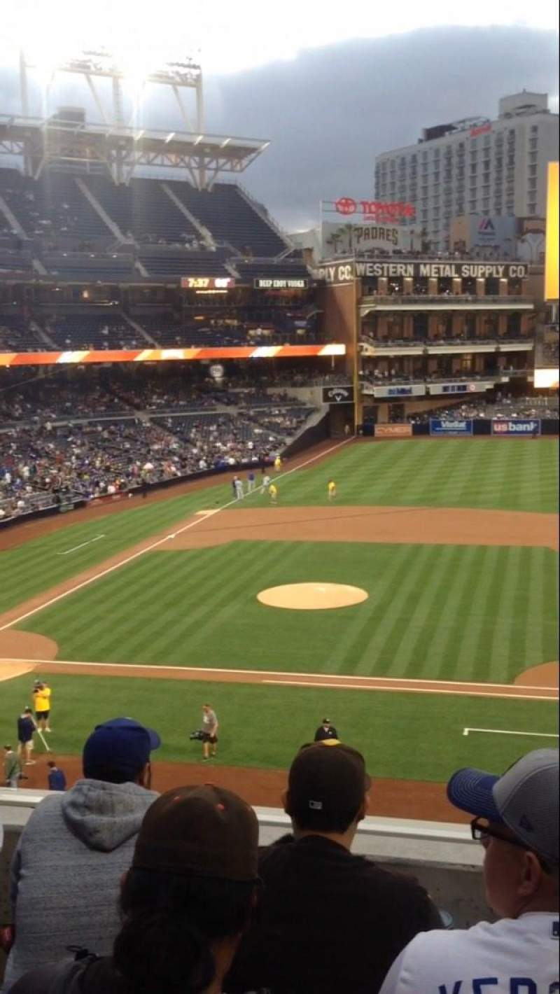 Seating view for PETCO Park Section 207 Row 4 Seat 16