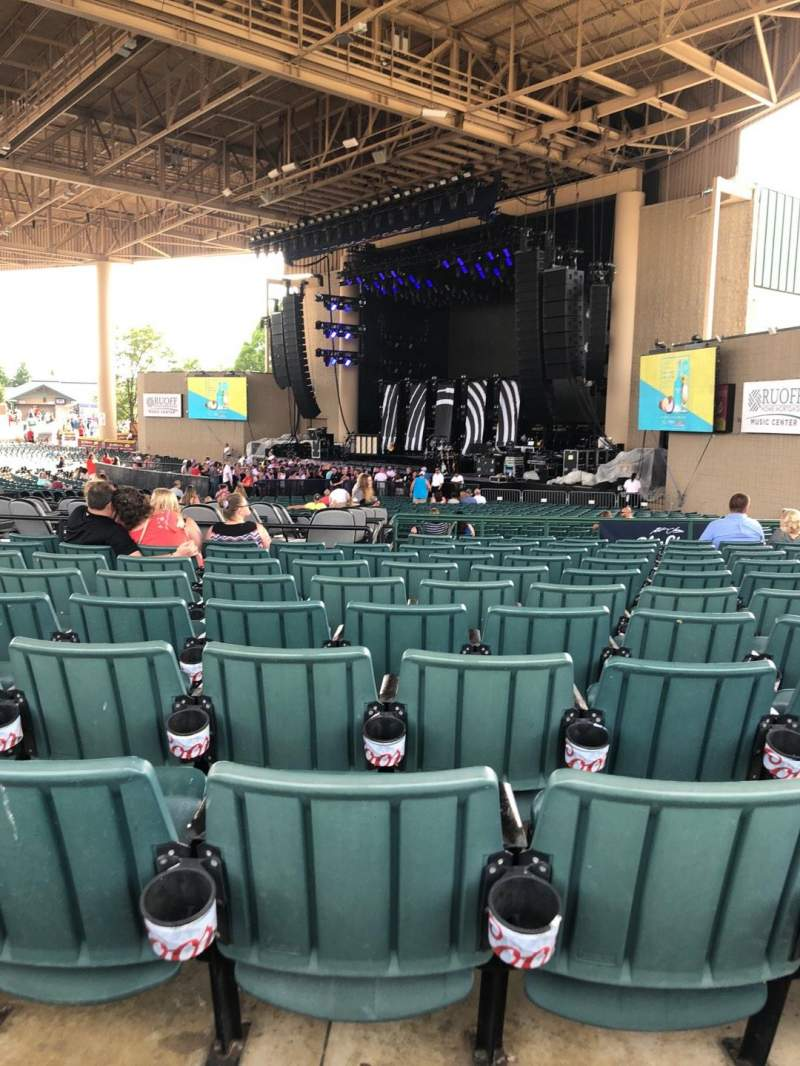 Seating view for Ruoff Home Mortgage Music Center Section H Row N Seat 20