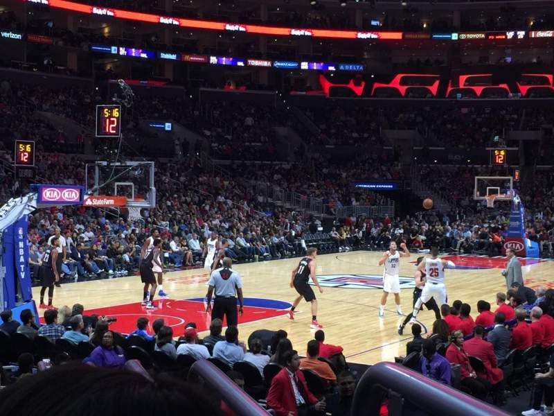 Seating view for Staples Center Section 105 Row 9 Seat 1
