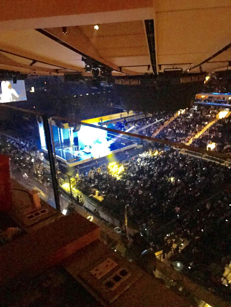 Seating view for Madison Square Garden Section 328 Row 2 Seat 5