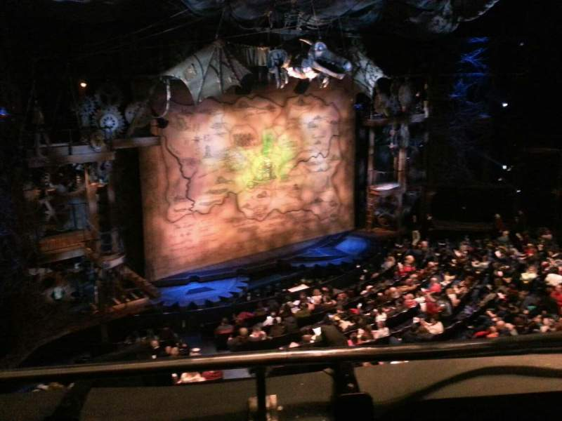 Seating view for Gershwin Theatre Section Rear Mezzanine L Row A Seat 25