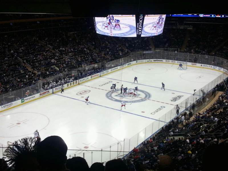 Seating view for Madison Square Garden Section 419 Row 5 Seat 18