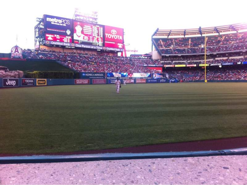 Seating view for Angel Stadium Section 104 Row A Seat 11