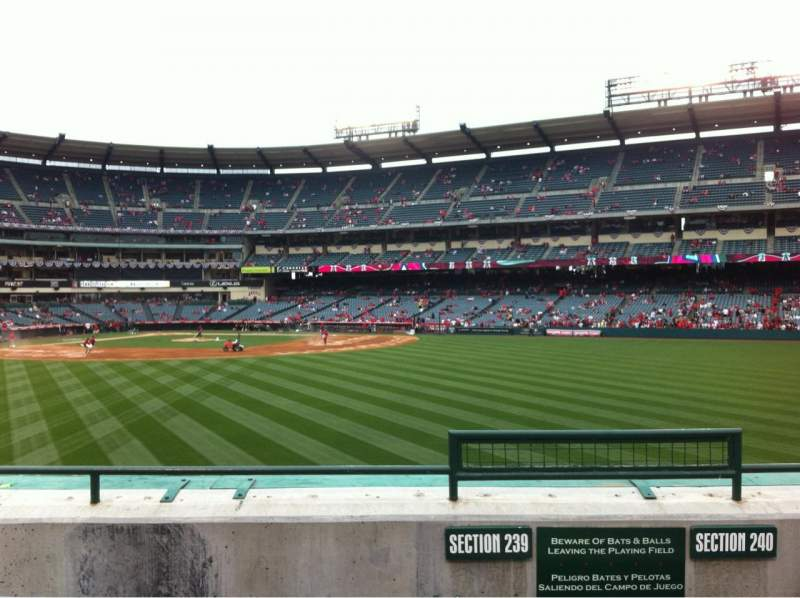 Angel Stadium, section: P239, row: D, seat: 25
