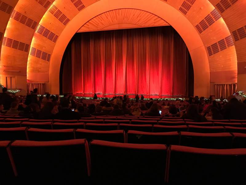 Radio City Music Hall, section Orchestra 3, row L, seat 303
