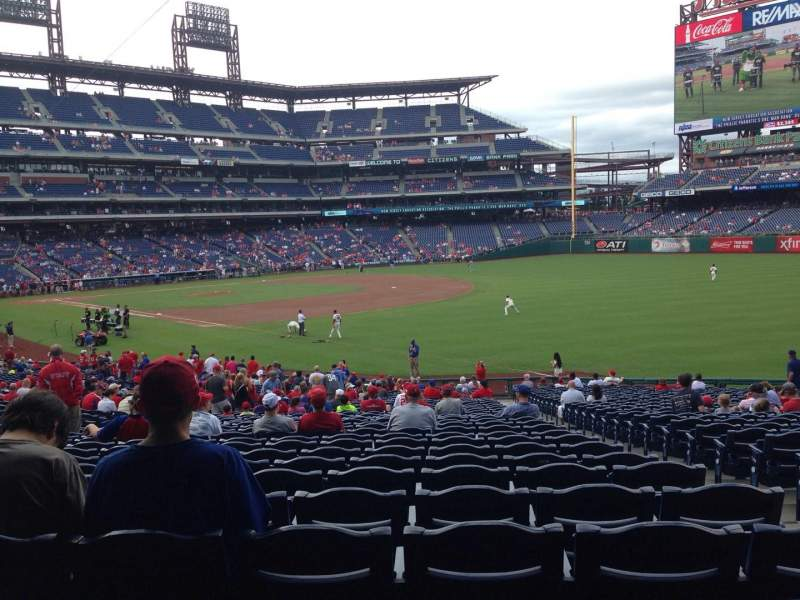 Seating view for Citizens Bank Park Section 110 Row 35 Seat 3