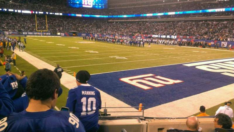 Seating view for MetLife Stadium Section 106 Row 7 Seat 1
