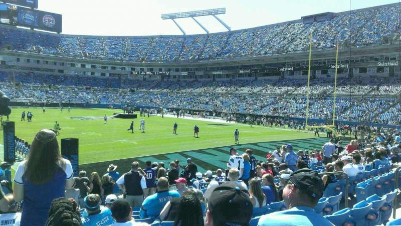 Seating view for Bank of America Stadium Section 104 Row 12 Seat 1