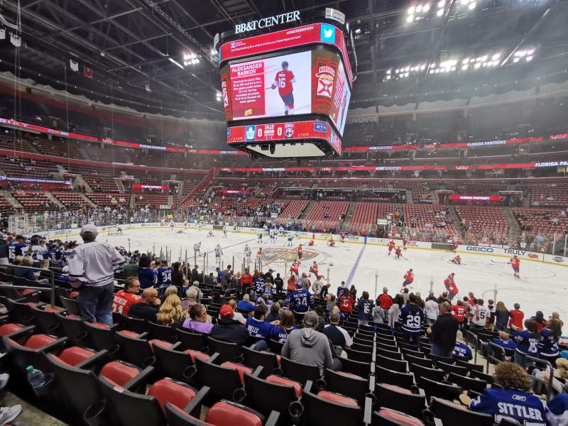 Seating view for BB&T Center Section 117 Row 17 Seat 4